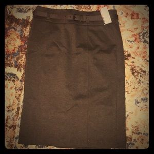 Brown New York and Co pencil ✏️ skirt NWT